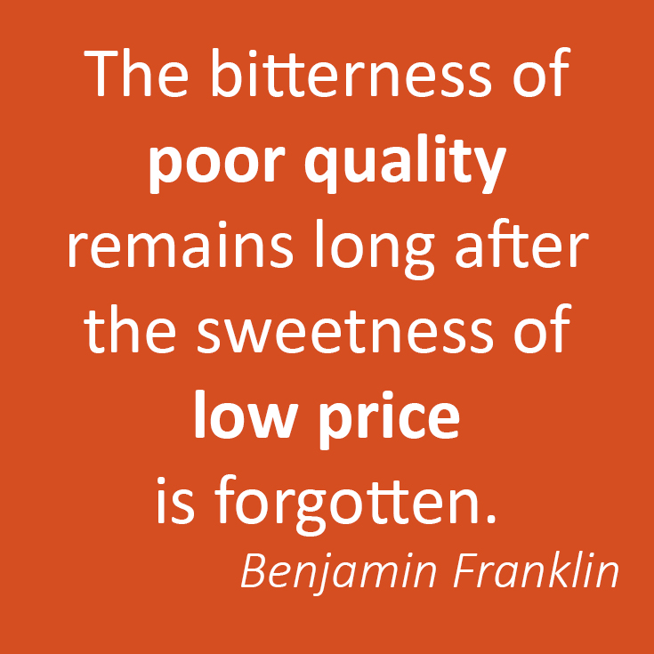 Never estimate cheap for great value. Especially when it comes to SEO!