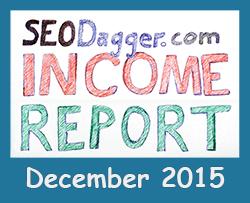 December 2015 Income Report