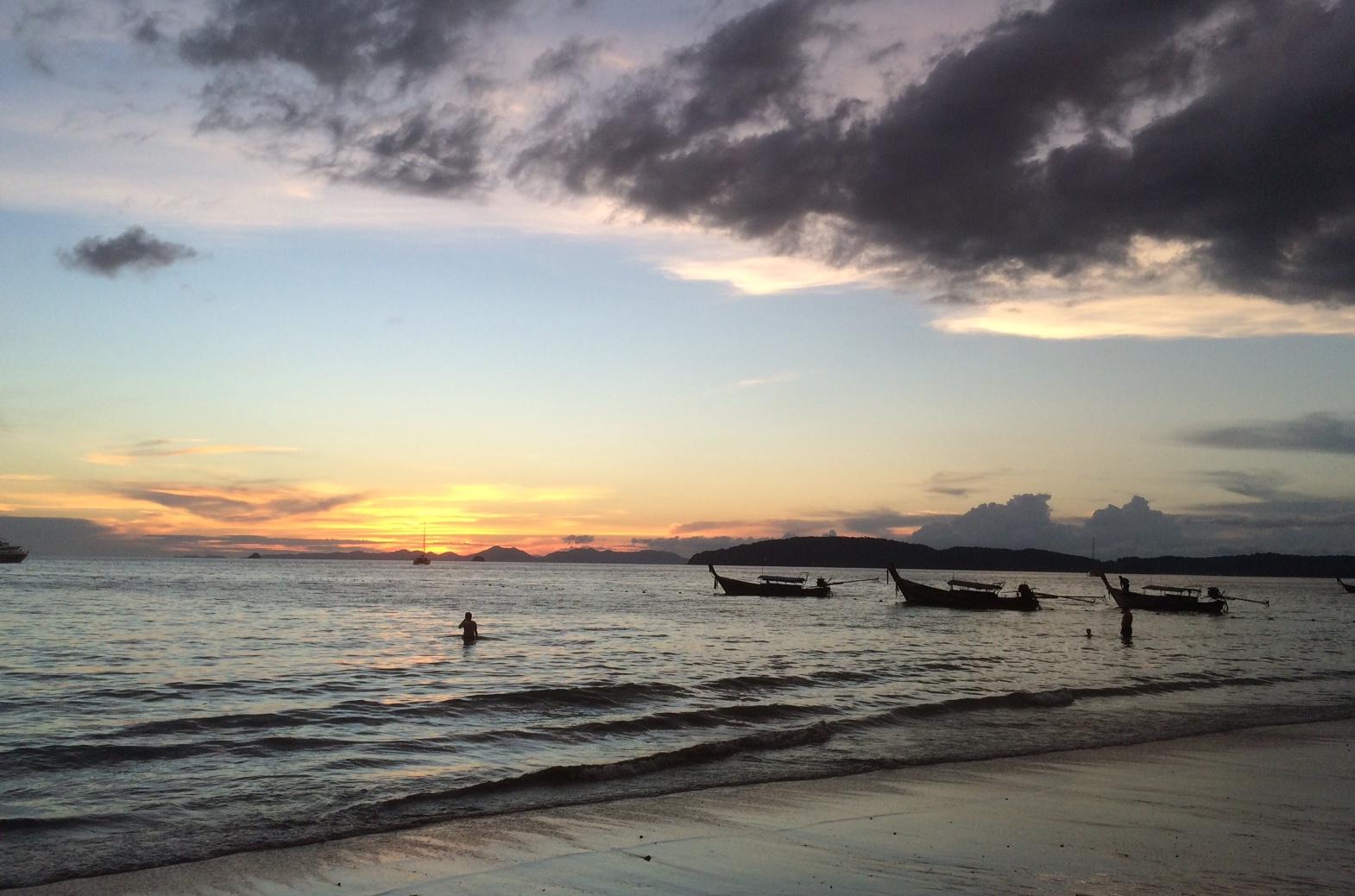 Sunset at Ao Nang beach, Krabi, Thailand!