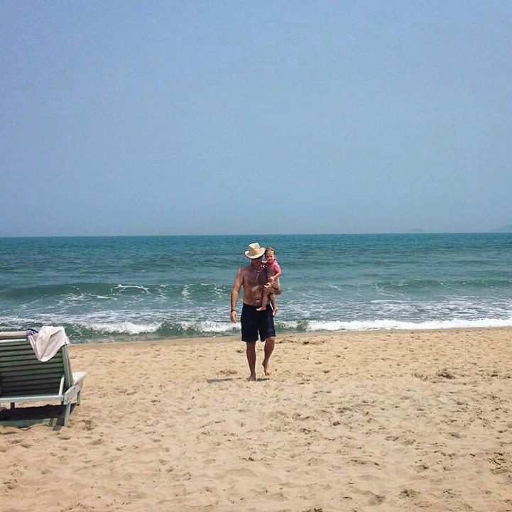 Midweek, midday. Decided to take my wife and daughter to the beach in Hoi An, Vietnam.