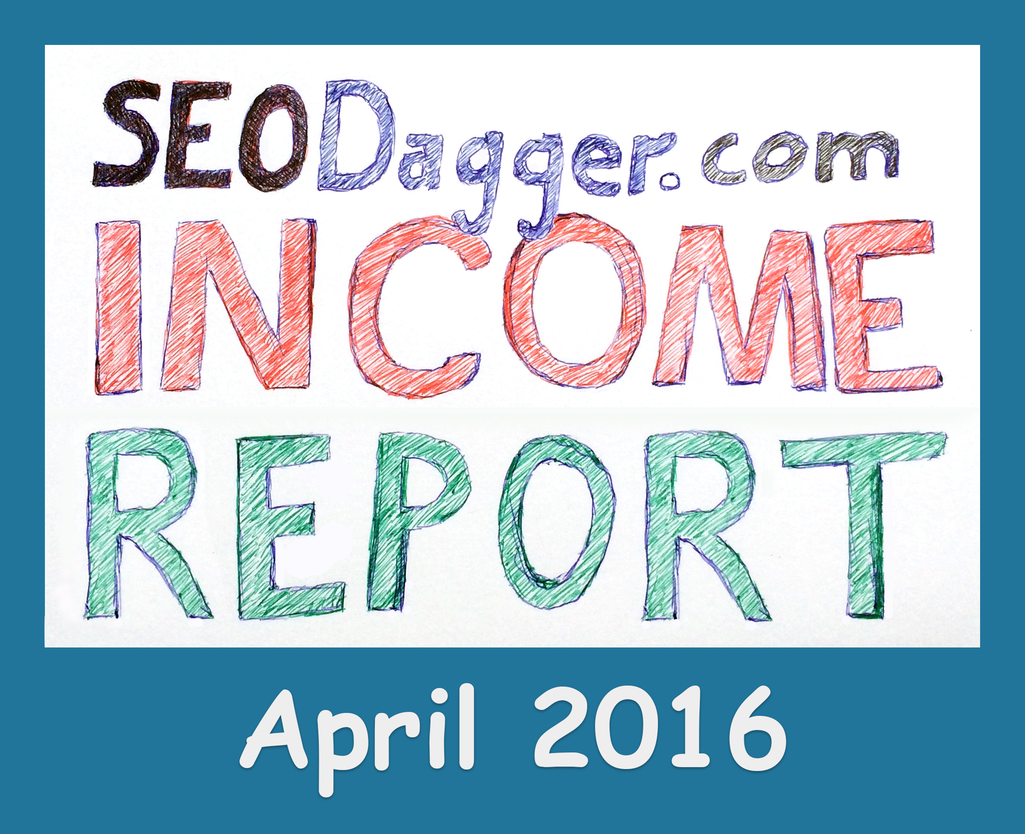 April 2016 Income Report